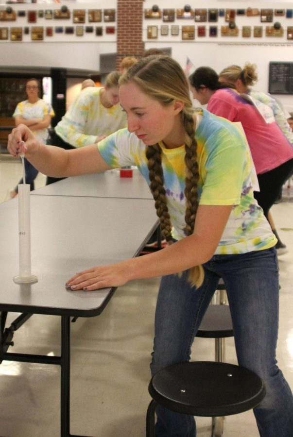 Students celebrate Mole Day with a class competition
