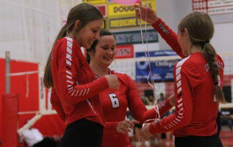 Volleyball Seniors Celebrate Senior Night