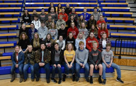 At the annual Pratt Academic Olympics, students representing Conway pose for a group picture. CSHS took 43 students to participate, and 13 of them ended up placing.